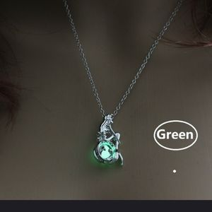 New Mermaid necklace with caged glowing bead